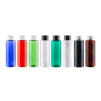 100ml x 50 Refillable Plastic Screw Cap Bottle Colored PET Shampoo Containers Green Turquoise Transparent Amber Small Bottles