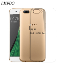 IMIDO Soft TPU Case for OPPO F5 F7 F9 F11 Pro Silicone TPU Cases for OPPO F5 F7 F9 F11Pro Protective Cover Transparent цена и фото