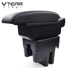 Vtear For Toyota Avanza car armrest box leather arm rest interior storage box auto center console accessories decoration 2014