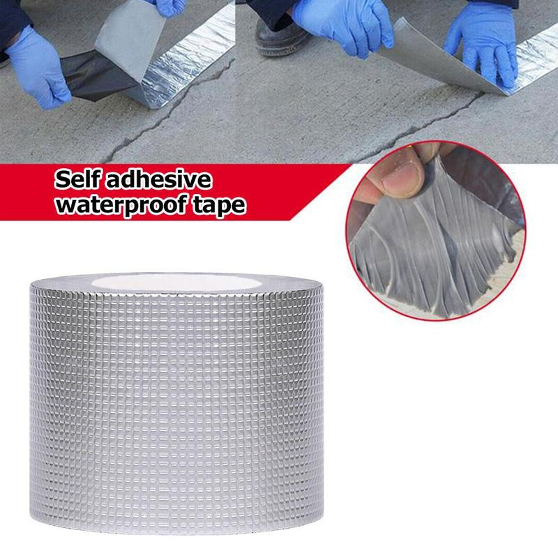 Self-adhesive waterproof tape Non-Toxic Roof Vent RV Patch Sealant Tape Butyl Seal Tape Strong Adhesive Home