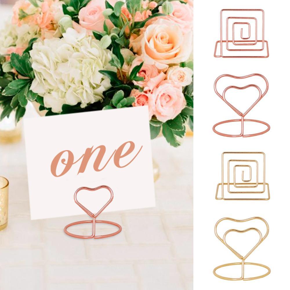 QIFU 10pcs Heart Shaped Metal Tag Clip Rustic Wedding Table Decor Weeding Decor for Weddings Mr Mrs Wedding Events Decor Weding