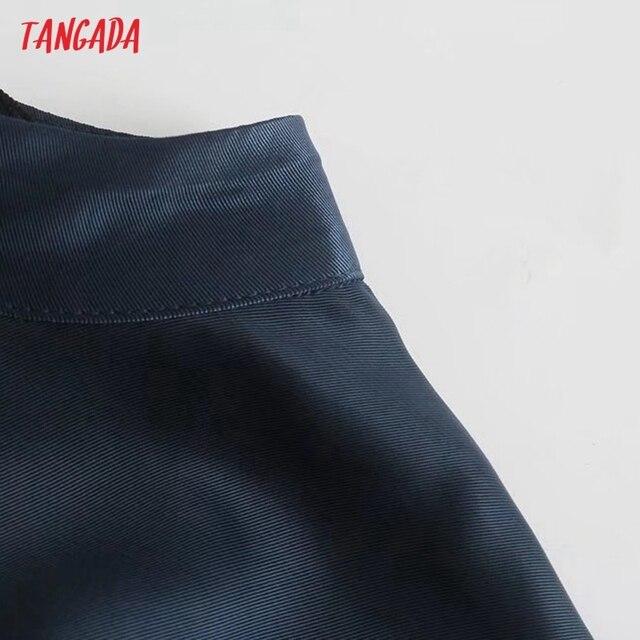 Tangada Women Cut-out Sexy Dress Sleeveless Backless 2021 Fashion Lady Party Midi Dresses 3H850 4