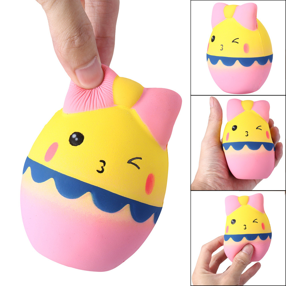 Kawaii Cartoon Egg Squishy Slow Rising Cream Scented Stress Reliever Toy Decompression Funny Toys For Children Gift L113
