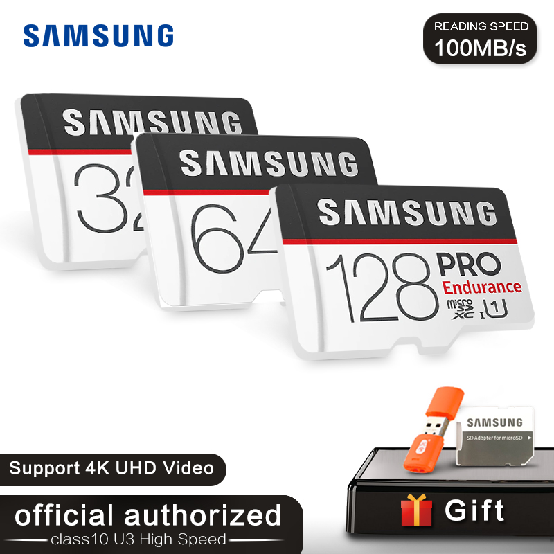 <font><b>SAMSUNG</b></font> MicroSD Card <font><b>PRO</b></font> 128GB TF Card 64GB 32GB Trans Flash Memory Card UHS-I U1 U3 Class10 SDXC SDHC 4K HD cartao de memoria image