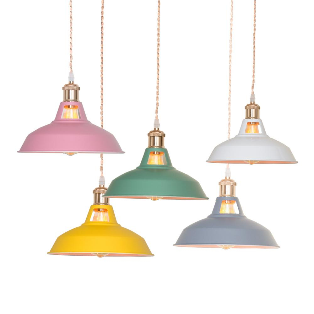 Colour  Industry Retro Pendant Lights Bedroom Hanging Lamp Kitchen Luminaire Suspension Modern Home Furnishing Decorative Light