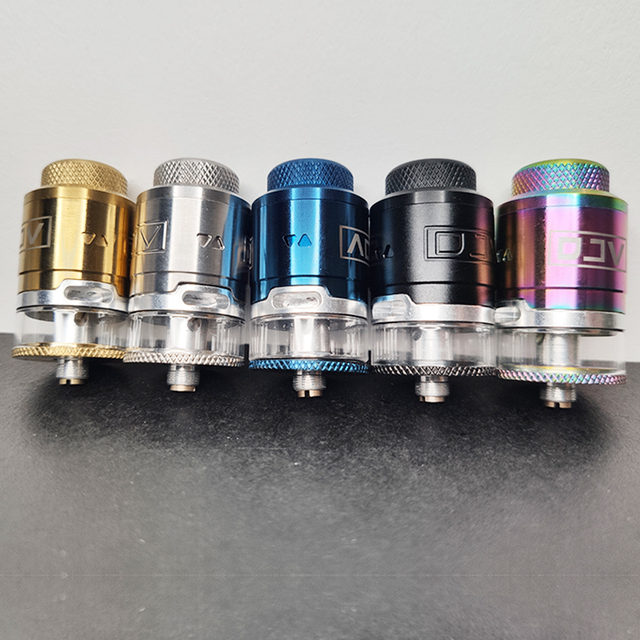 DJV rdta atomizer with design 810 resin dripper, with 1 replaceable glass compartment