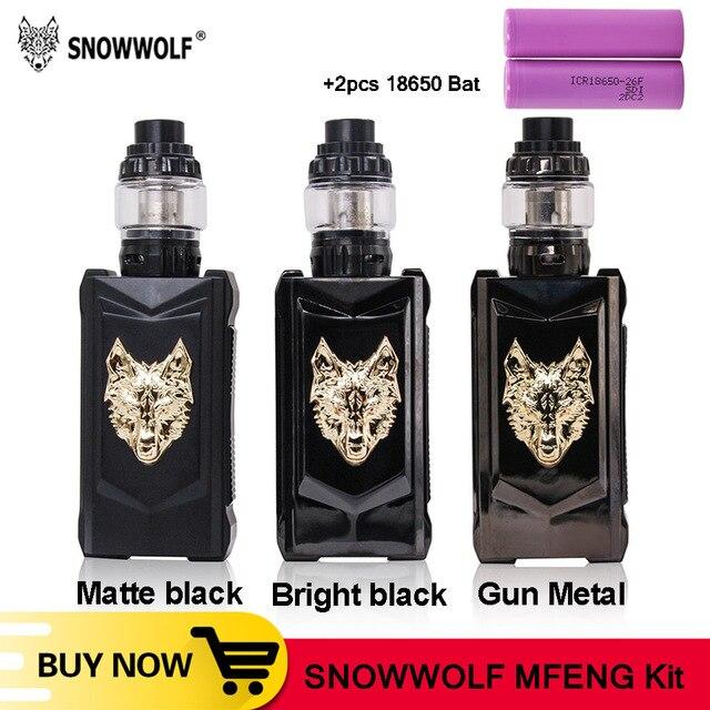 オリジナルsnowwolf mfeng 200ワットボックスmod蒸気を吸うキット6ミリリットルタンクwf 0。2ohm/0.16ohmコイルと1.3インチtftディスプレイ電子タバコキットvs pasito