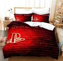 Jogo lidar com conjunto de cama dos desenhos animados colcha capa edredão cor conjunto personalizado roupa cama com fronha 2/3pcs para meninos presente