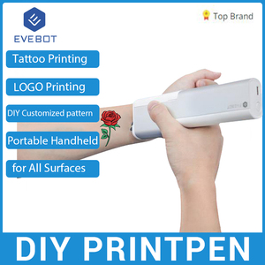 Portable PrintPen Handheld Printer Inkjet Pen Tattoo Printing Machine for All Surfaces DIY Pattern Tattoo Code Printing