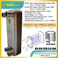 0 42 qm fläche PHE mit G3/4 gewinde verbindung ist verwendet für wärme transfer zwischen wasser und wasser  ersetzt Kaori K030 * 30M GB6|condenser heat exchanger|evaporator condensercondenser evaporator -