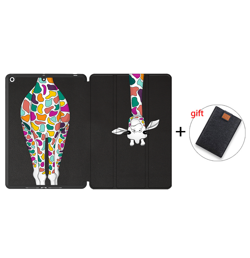 IPBC16 Ivory MTT Tablet Case For iPad 10 2 7th 8th Generation 2020 TPU Back PU Leather Flip