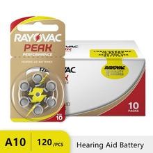 120 pièces Rayovac pic Zinc Air prothèse auditive Batteries A10 10A ZA10 10 S10 60 pièces prothèse auditive Batteries pour prothèses auditives