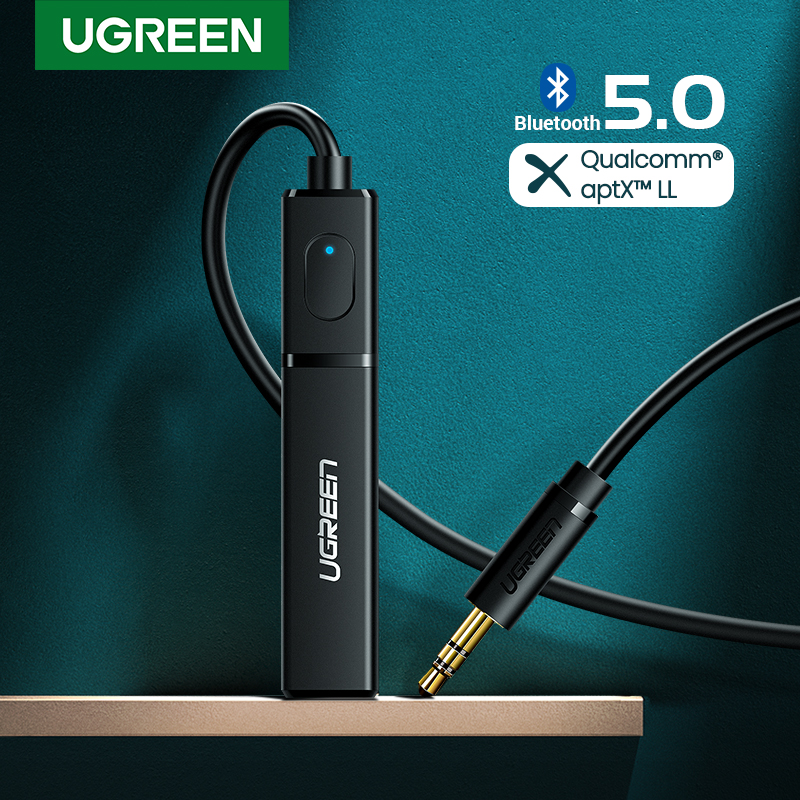 Ugreen bluetooth transmissor 5.0 tv fone de ouvido pc ps4 aptx ll 3.5mm aux spdif 3.5 jack áudio óptico música bluetooth 5.0 adaptador