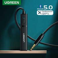 Ugreen transmisor Bluetooth 5,0 TV auriculares PC PS4 aptX le 3,5mm Aux SPDIF 3,5 Jack de Audio óptico de música Bluetooth 5,0 adaptador