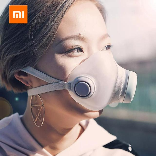 2020 Xiaomi Woobi Play Face Masks Filter Respirator Mask PM2.5 Anti-Dust Pollution Mouth Cover Breath Valve For Adult Kids 1
