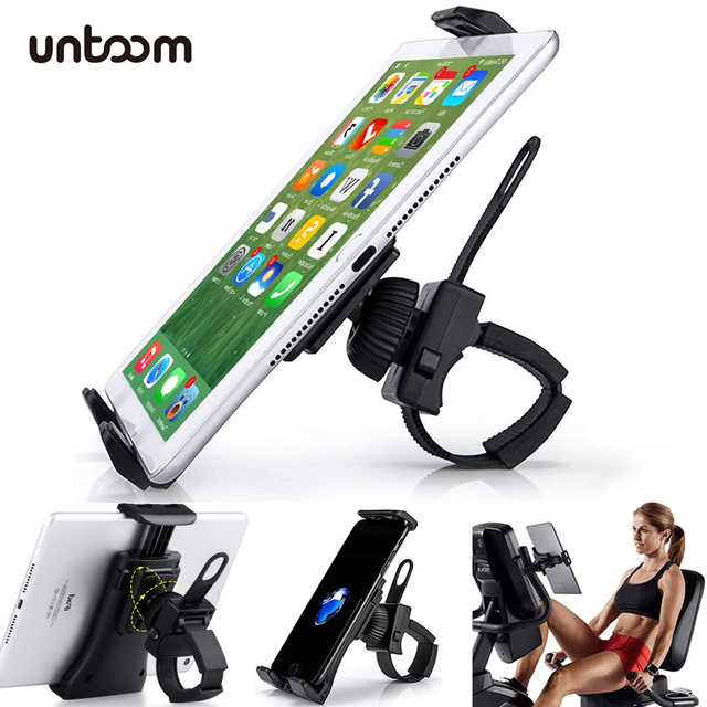 Bike Bicycle Phone Holder Handlebar Tablet Stand Mount for iPad iPhone Samsung Tablet Phone Holder Cradle for Gym Tread Mill