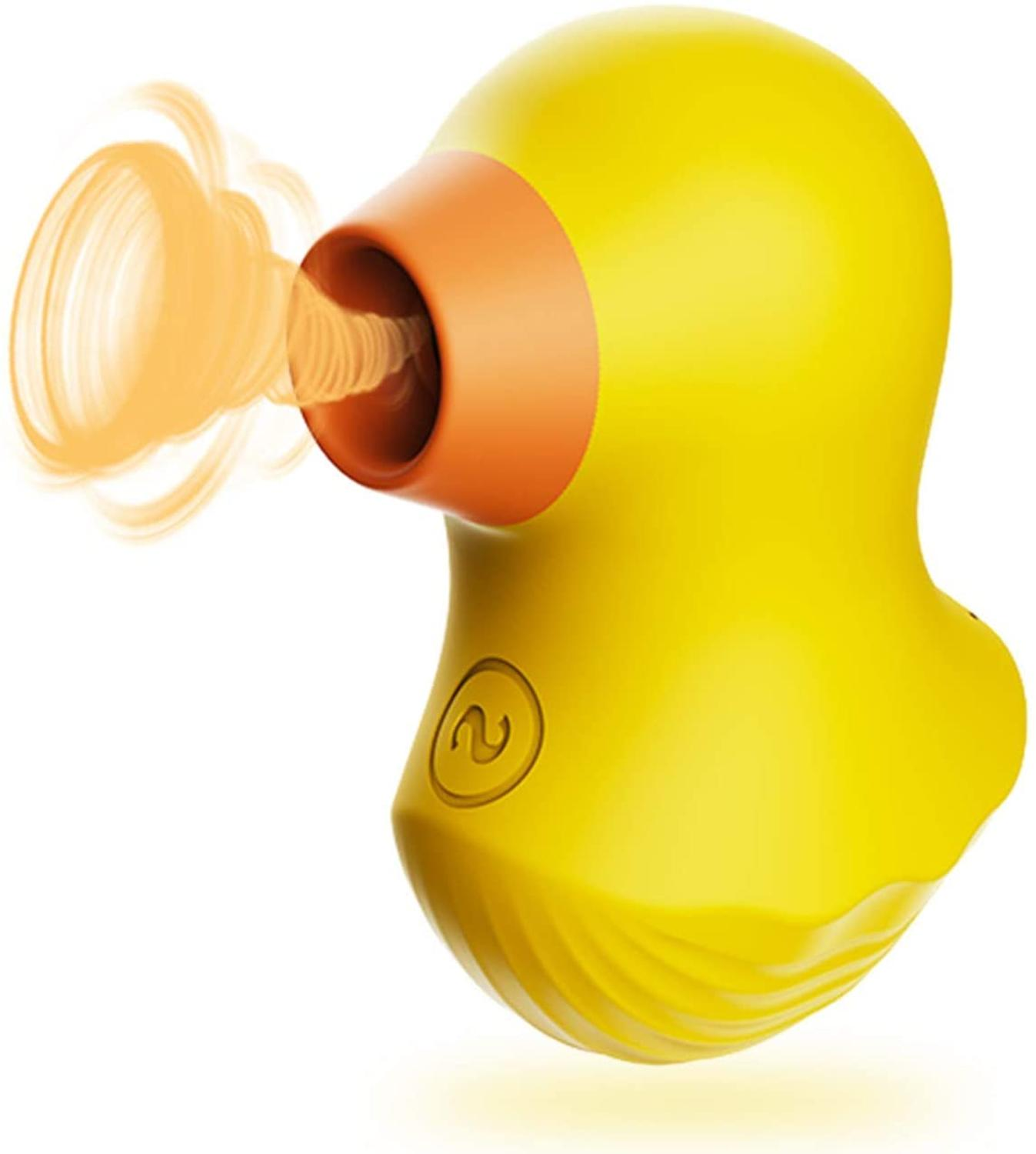 Mr Duckie Clitoral Sucking Vibrator For Clit Nipple Stimulation With 7 Suction Levels, Souvenir For Lovers