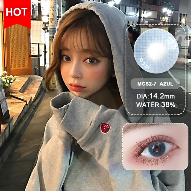 Blue Contacts 2020 NEW HIDIROCOR Two Piece Colored Contacts beautiful pupil color contact lenses contact lenses for eyes color 2