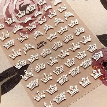 EA-021-040 Queen crown Butterfly flower 5D Back glue Nail decal Nail sticker Nail decoration Nail art Nail tool Nail ornament