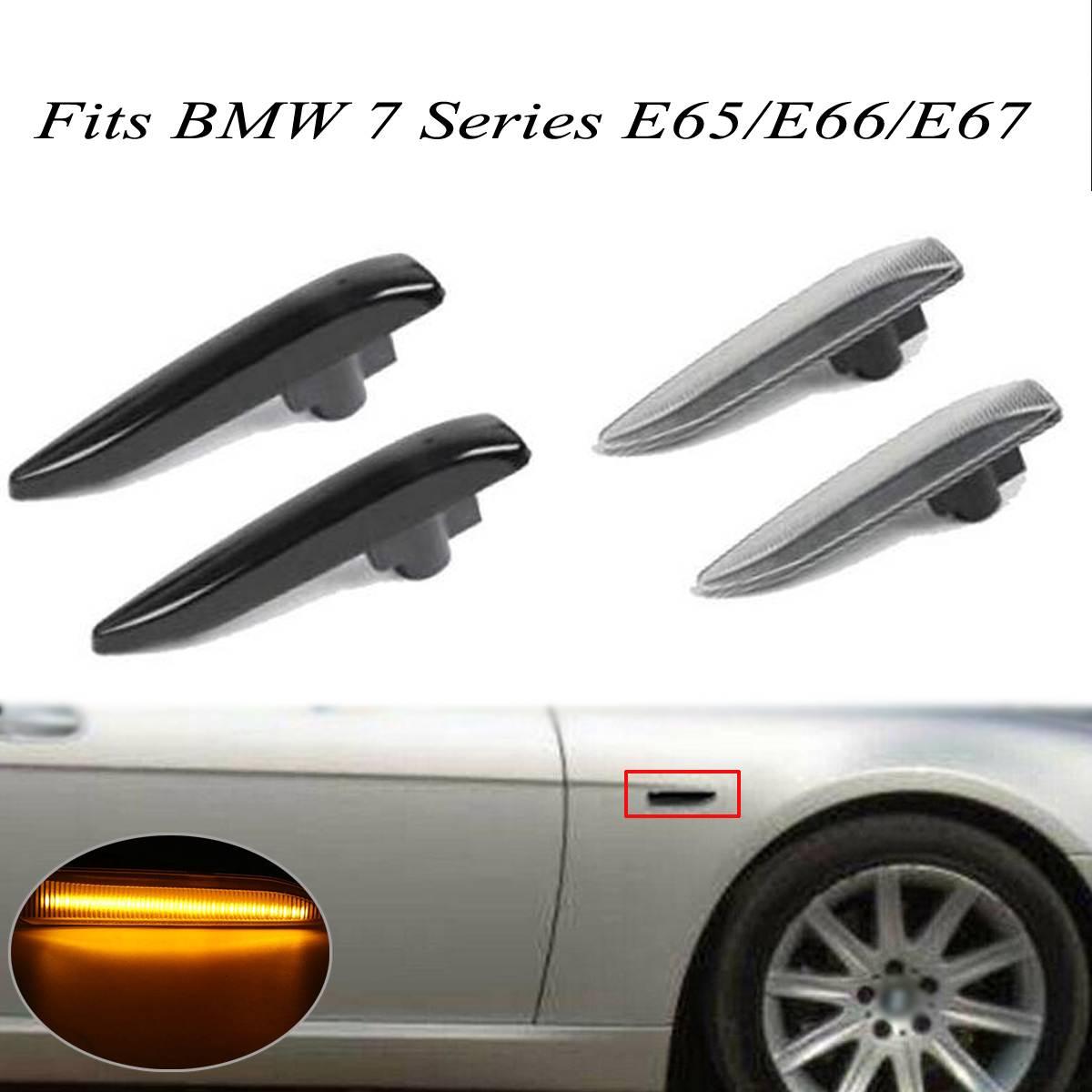 Светодиодные боковые габаритные огни Audew для BMW E65 E66 E67 2001 ~ 2008