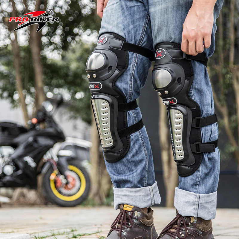 Езда племя открытый Гонки Нержавеющая сталь защита колена мотоцикла налокотник защита для мотокросса легкий HX-P15