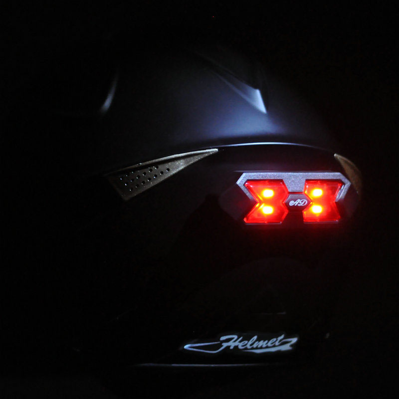 Motorcycle Helmet Night Light Strip Safety Signal Warning Light Universal Motorcycle Helmet Taillight Helmet Sticker Motorcross