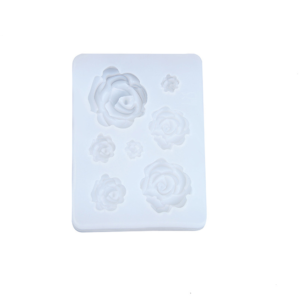 2020 New 7 Sizes Resin Rose Flower Pendant Silicone Mold Resin Jewelry Making Art Crafts