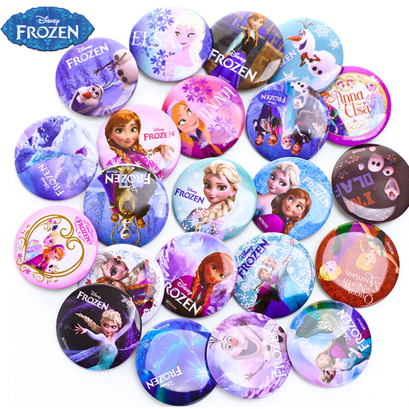 Disney Princess Frozen 2 Badge Birthday Party Decorations Kid Anime Action Figures Cartoon Birthday Toys Sets For Girl's Gift