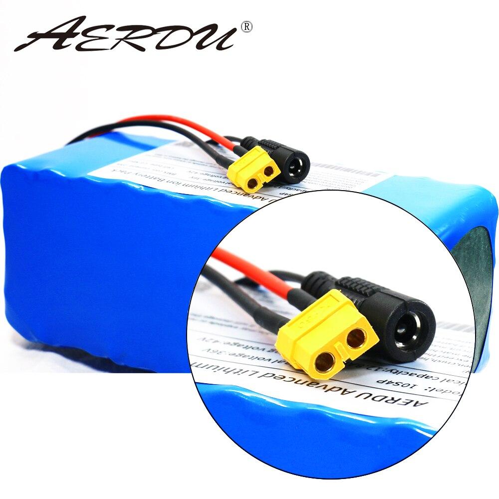 AERDU 36V 10S4P 12,8ah para LGEBMH11865 13ah 12ah con 25A BMS 42V batería de litio ebike motor de bicicleta de coche eléctrico scooter - 5