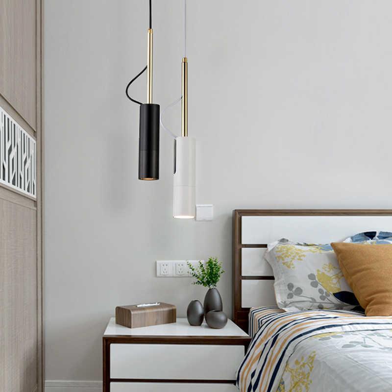 LukLoy светодиодный вращающийся Точечный светильник, современный подвесной светильник, прикроватный подвесной светильник, подвесной Точечный светильник, современный поворотный Точечный светильник для спальни