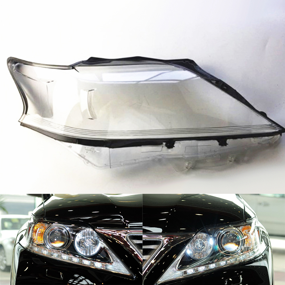 Car Headlight Lens For Lexus RX270 RX350 RX450 2012 2013 2014 Headlamp Lens Car  Replacement   Auto Shell