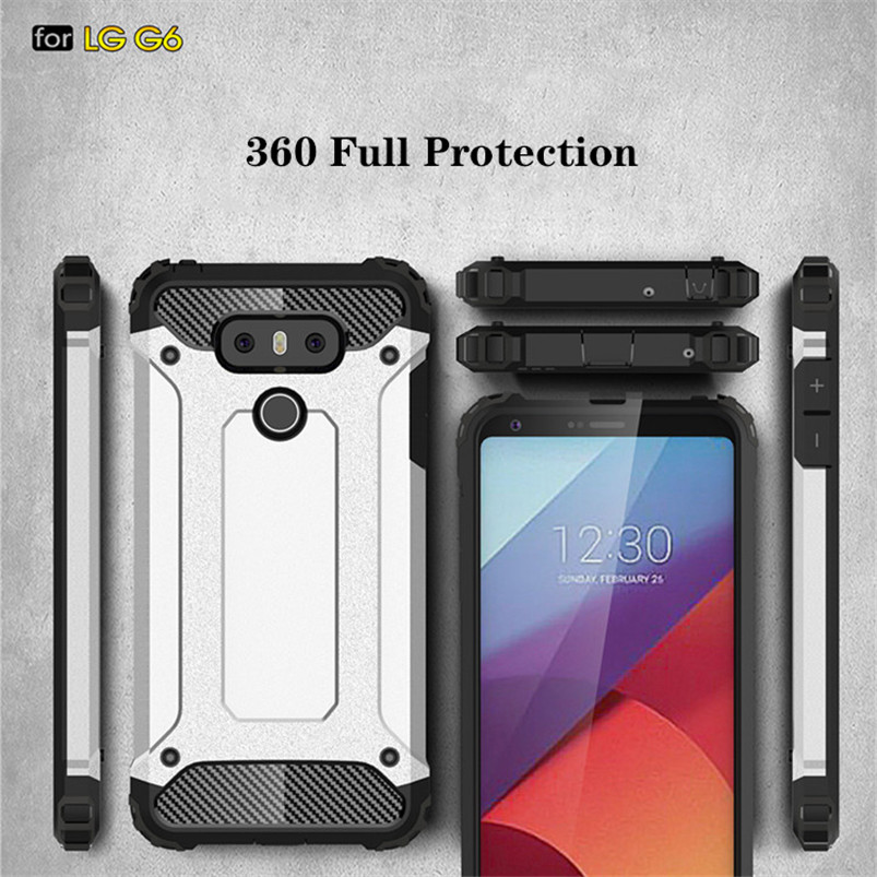 Armor Hybrid Hard PC Shockproof Case For LG L5 L6 L7 G8 Thinq K8 K10 TPU Coque Heavy Duty Protection Back Cover For LG G6 Case