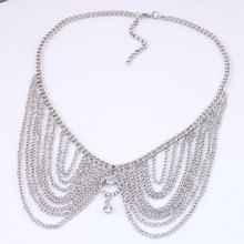 Special Offer Fashion metal multi-layer fringed Necklace in Europe and America