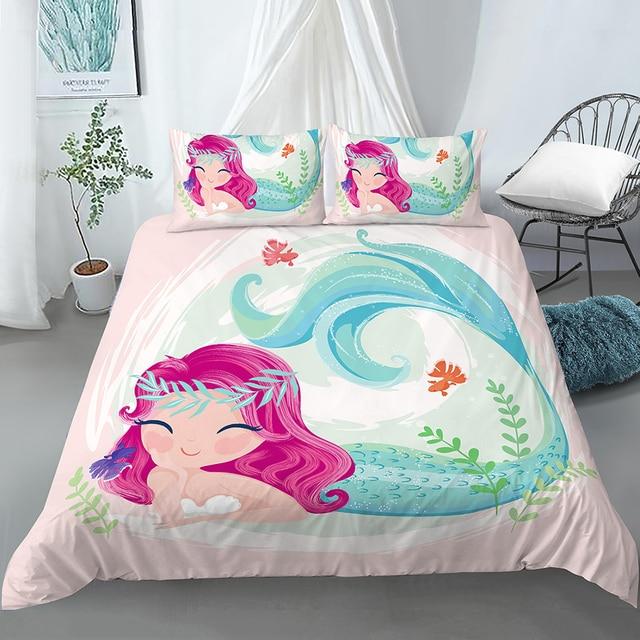 Lying Down Mermaid Bedding Set
