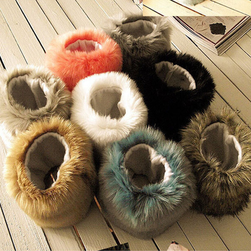 1 Pairs Faux Rabbit Fur Elastic Oversleeve Cuff Winter Warm Wristbands Women's Fashion Autumn Wrist Gloves Sleeve Cuff Cover
