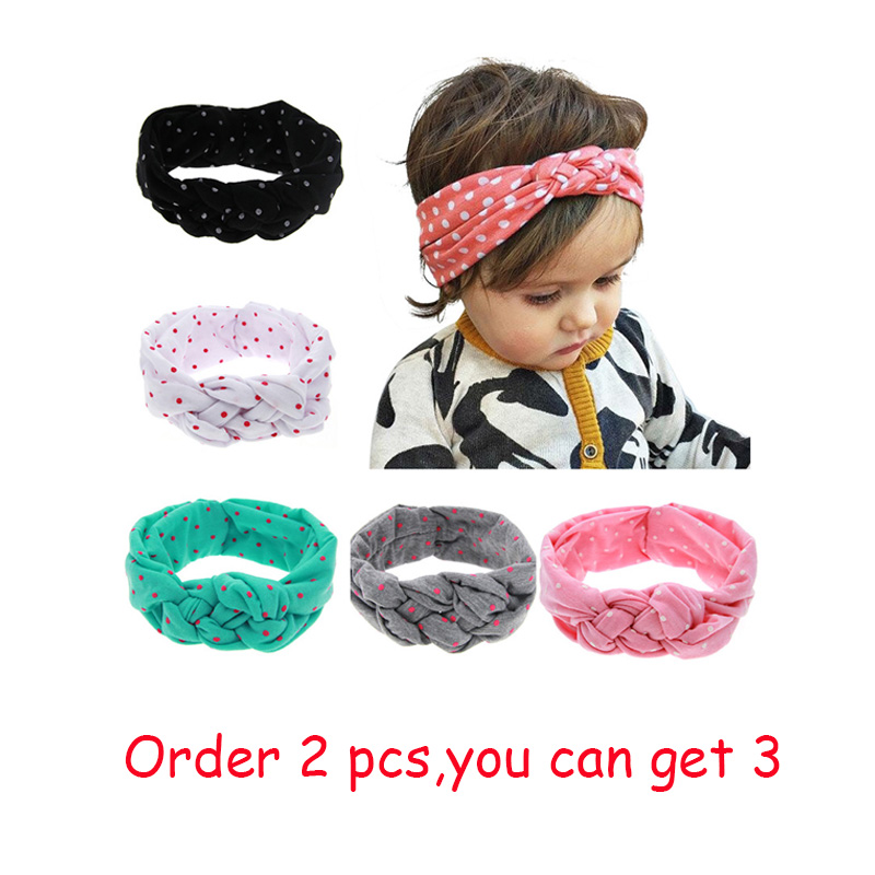 LALeben Toddler Turban Knitted Baby Headbands Cotton Elastic Girls Rabbit Ears 5 Colors Baby Girls Spandex Baby Hair Accessories