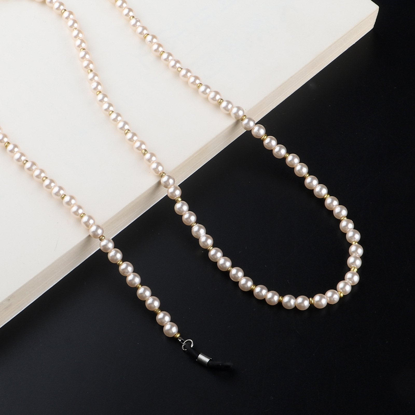 New 2020 Imitation Pearl Beaded Reading Glasses Chain Neck Cord Non-slip Sunglasses Chain For Women Pearl Necklace Accessories