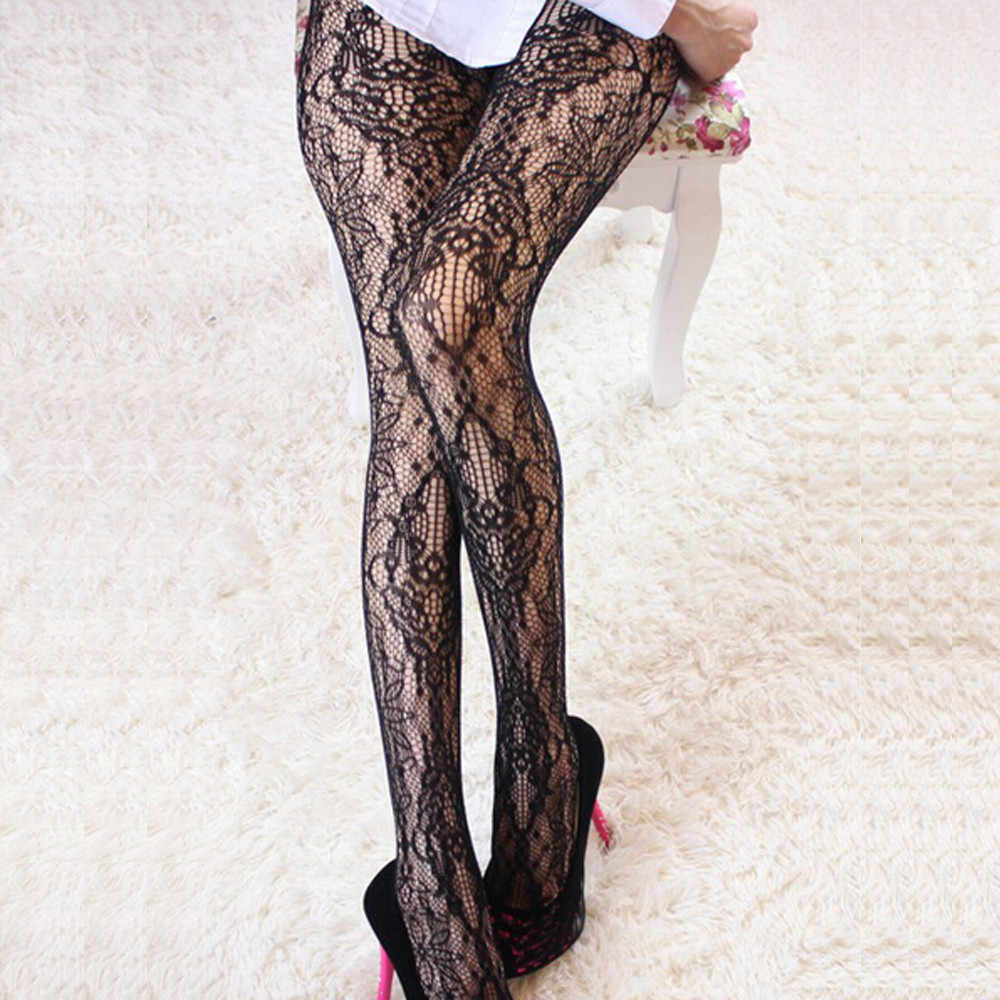 Sokken Bloemen Hollow Out Borduren Kousen Mode Vrouwen Netto Visnet Bodystockings Patroon Panty Panty Kousen Hot 1