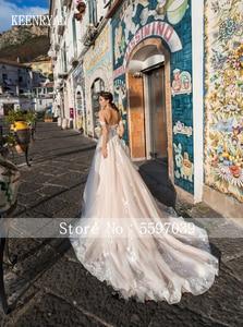 Image 3 - Hàng Mới Về Gợi Cảm Người Yêu Hở Lưng Ren Bầu Áo Cưới 2020 Vai Thanh Lịch Cô Dâu Đầm Công Chúa Áo Cưới