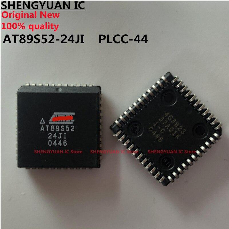 5 шт./лот AT89S52-24JI PLCC-44 AT89S52 8-битный микроконтроллер с 8 к байт в системы программируемый Flash 100% Новый оригинальный