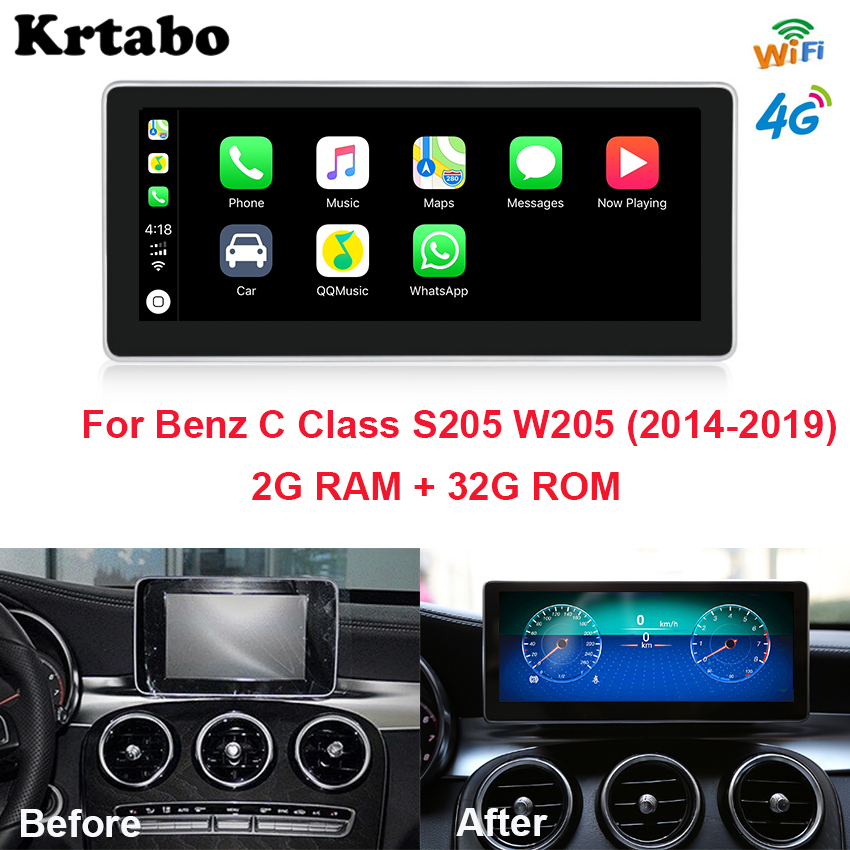 Good quality and cheap mercedes w205 multimedia player in