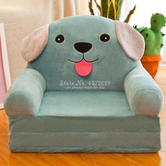 Fashion Cute Children Sofa Folding Cartoon Stool For Children Kids Sofa Baby Stool Can Be Wash Washable Chair For Kids