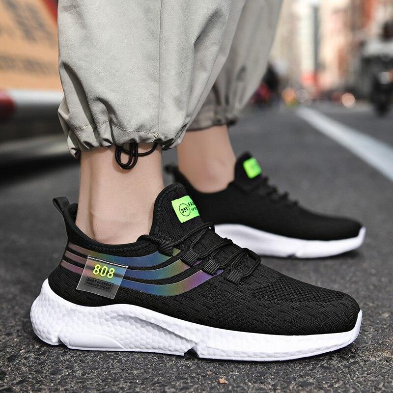 Для Мужчин's летние кроссовки с верхом из сетчатого материала для бега спортивная обувь, пропускающая воздух, легкая Повседневное кроссовки...