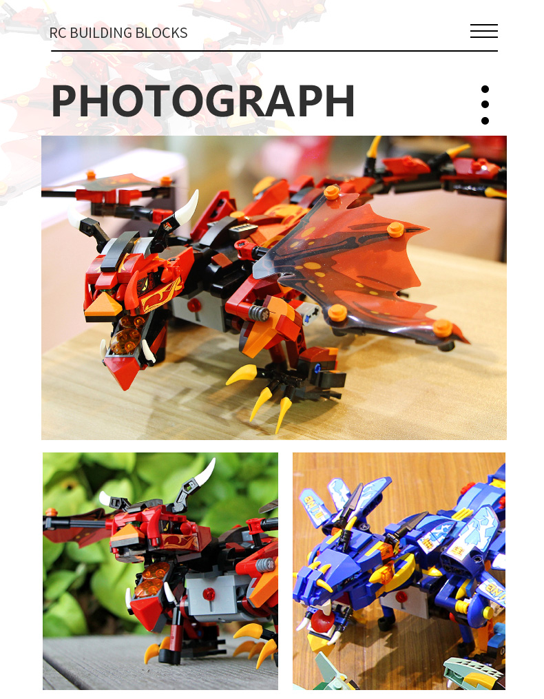MOULD KING 13018 Compatible 70602 RC Technic Ninjaoes Dragon Knight Building Block 9