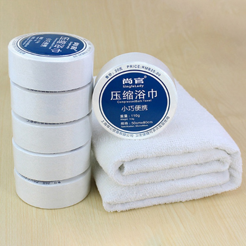 Compressed Towel Magic Travel Wipe Soft Cotton Expandable Outdoor Hiking Camping EDC Tools Accessories