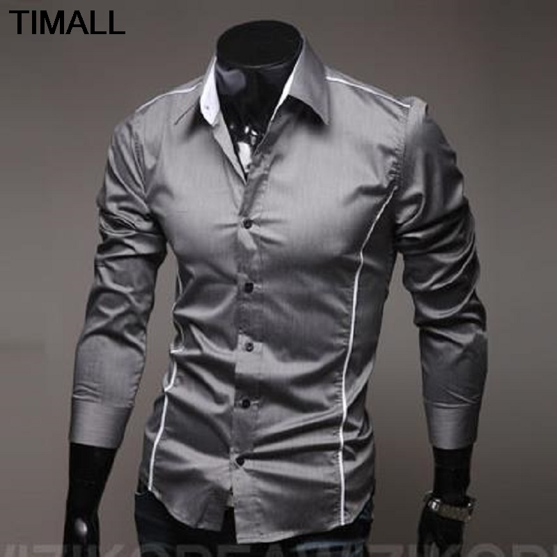 Camisa Masculina Men's Casual Long Sleeve Printing  Casual Shirt Slim Fit Men Shirts Camisa Social Masculina