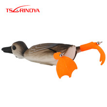 TSURINOYA New Surface Duck Frog Lure Soft Fishing Lures 18.5g 10cm Top Water Snakehead Bait Floating Baits For Bass Pike Catfish(China)