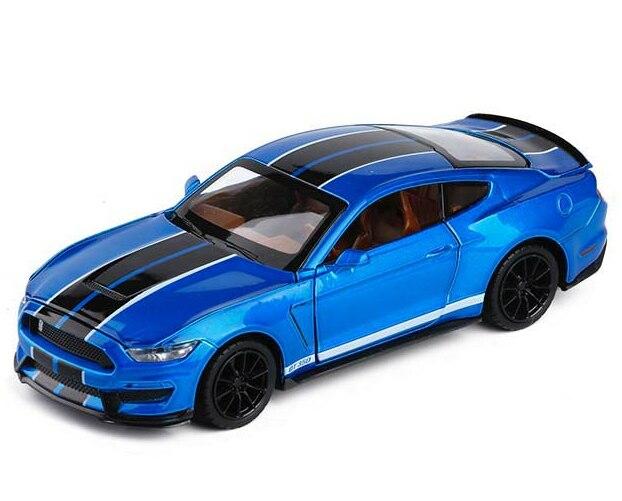 1/32 Mustang Shelby GT350 Legierung Auto Spielzeug Modell EINE Modifizierte Auto Modell Pull Zurück Blinkende kinder Spielzeug Geschenk Freies verschiffen