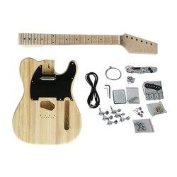 Aiersi ST TL kit de guitare électrique ensemble complet kit de guitare bricolage inachevé avec sangle de guitare gratuite