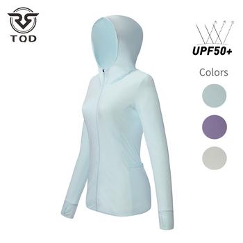 Kurtka chroniąca przed słońcem TQD odzież damska UPF50 + anty-uv szybkoschnąca oddychająca jazda na rowerze turystyka sportowa wędkarstwo na świeżym powietrzu tanie i dobre opinie WOMEN CN (pochodzenie) Dobrze pasuje do rozmiaru wybierz swój normalny rozmiar